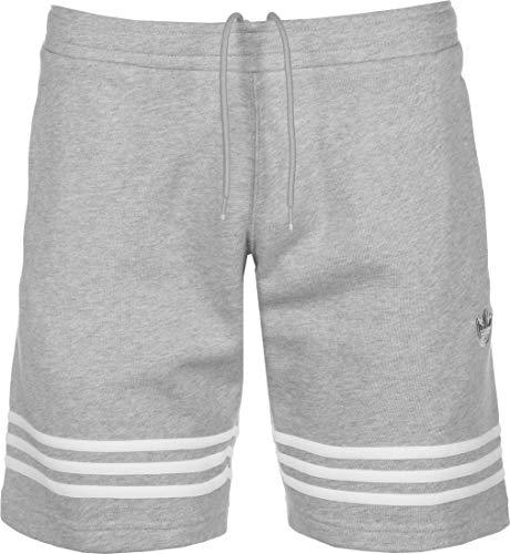 adidas Outline Short Pantaloncini Sportivi, Uomo, Medium Grey Heather, M