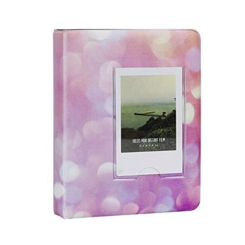 TFSYLISA 64 zakken 3 Inch Sterrenhemel Fotoboek Album for Fujifilm Instax Mini Film naam kaarthouder (Color : Pink)