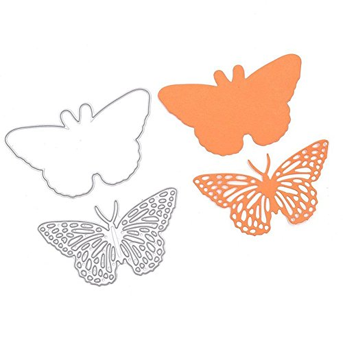 TOOGOO Reposo Mariposa Set Corte Dados Plantilla Marco Acero al Carbono DIY Plantilla Papel Tarjeta 1 Piezas