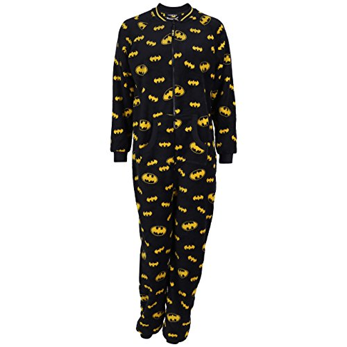 Batman, Ganzkörper Schlafanzug, Onesie, Hausanzug, Einteiler, Schlafoverall - 32-34 / UK 6-8 / EU 34-36