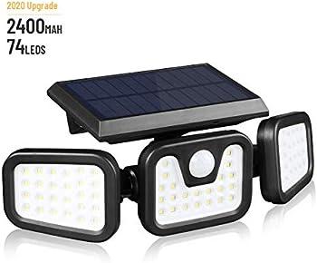 Kibtoy Outdoor Solar Lights with Motion Sensor
