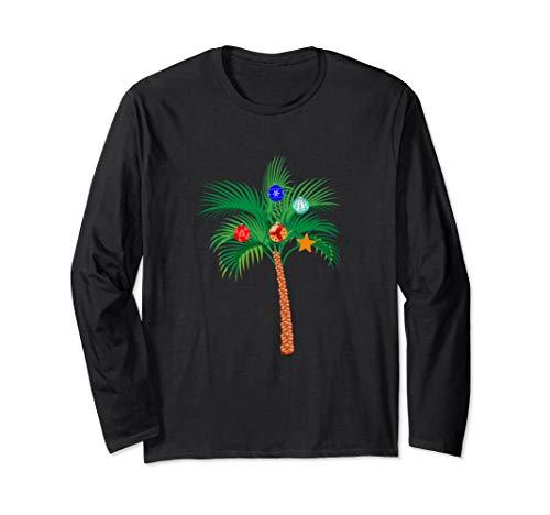 Christmas Ornaments Palm Tree Hawaii Tropical Family Xmas Long Sleeve T-Shirt