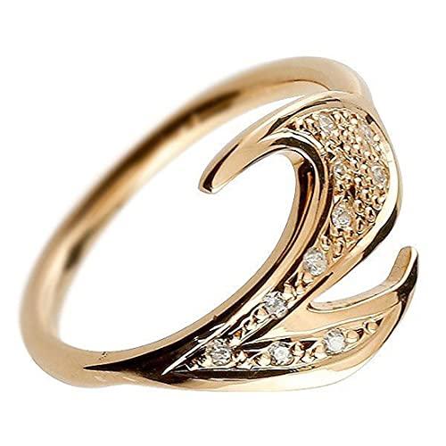 [アトラス]Atrus リング レディース 10金 ピンクゴールドk10 キュービックジルコニア ナンバー2 指輪 数字 ストレート 22号