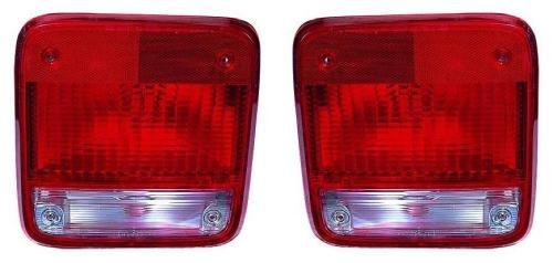 Go-Parts - PAIR/SET - for 1985 - 1995 Chevrolet G20 Rear Tail Lights Lamps Assembly / Lens / Cover - Left & Right (Driver & Passenger) Side GM2800101 GM2801101 5977495 5977496 Replacement 1986 1987