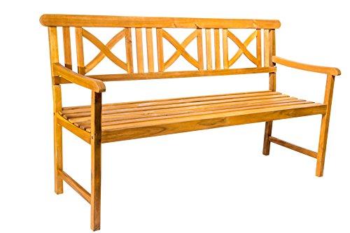 SAM 3-Sitzer Gartenbank Rhodos, Akazien-Holz geölt, Holzbank, massives Garten- & Balkonmöbel