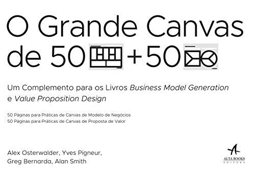 O grande Canvas de 50 páginas para práticas de Canvas de modelo de negócios e 50 páginas para práticas de Canvas de proposta de valor
