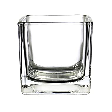 CYS EXCEL Cube Vase, Crystal Clear Glass Vase, Cube Glass Vase (Pack of 12PCS), Multiple (Cubic:2 )