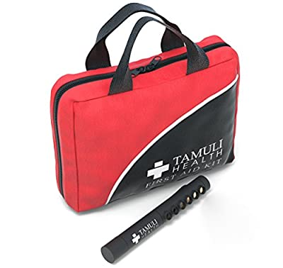 Tamuli Health First Aid Kit - Premium Compact Complete Lightweight Emergency Bag - For Car Travel Hiking Wilderness Survival Hunting Camping Sports Family Home School Office and Pets - Hospital Grade by Tamuli Health