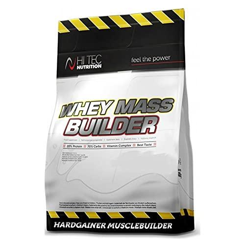WHEY MASS BUILDER 1500g - Guadagnatore di peso anabolizzante in polvere per la crescita della massa muscolare | Bodybuilding | Anticatabolico (Vaniglia)