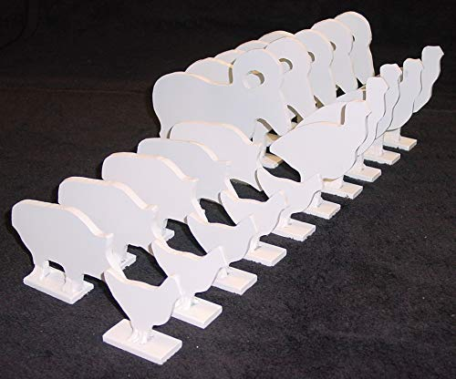 1/5 Scale NRA/IHMSA .22LR Rim-fire Small Bore Animal Knock-Over Targets - 20pc. Steel Targets