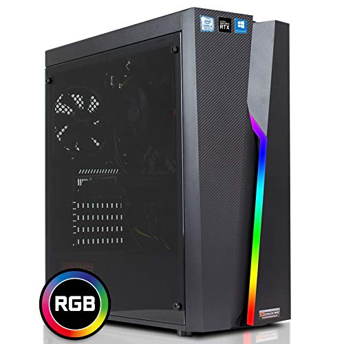 dcl24.de [11402] Gaming PC RGB Bolt Intel i9-9900KF 8x3.6 GHz - 480GB SSD & 2TB HDD, 32GB DDR4, RTX2080Ti 11GB, WLAN, Windows 10 Pro Spiele Computer Rechner