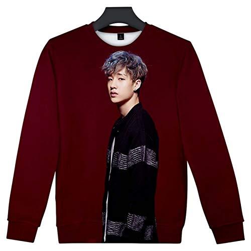 ZIGJOY Unisex Stray Kids Rundhalspullover Kpop 3D-Druck Sweatshirt Clé1:MIROH Pullover Han Hyunjin Felix für Fans 2754 M