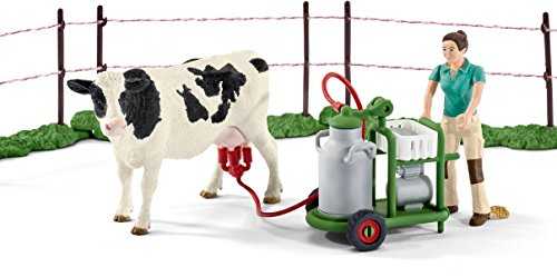 Schleich 41428 – Kuhfamilie auf der Weide, mehrfarbig - 3