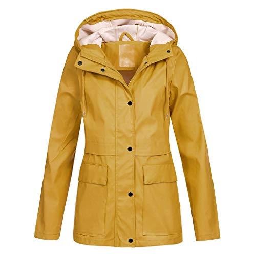 Timogee Damen Regenjacke Übergangsjacke Doppeljacke Damenjacke Funktionsjacke Allwetterjacke Outdoor Hoodie wasserdichter Mantel Lady Windproof Coat