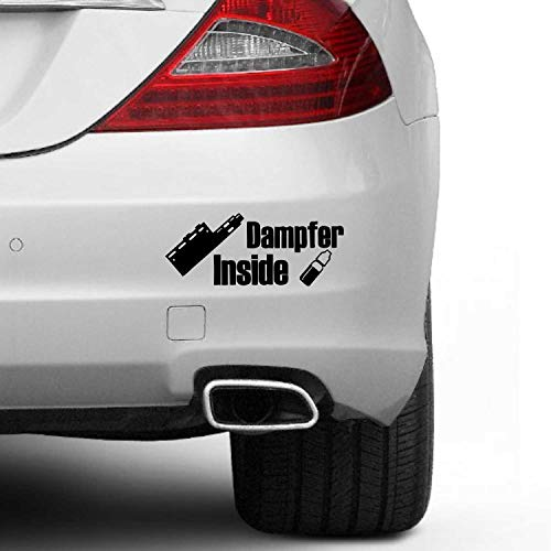 SUPERSTICKI Dampfer Inside Vape ca 20cm Auto Aufkleber Tuning Spruch Fun Lustig Aufkleber Decal Sticker aus Hochleistungsfolie