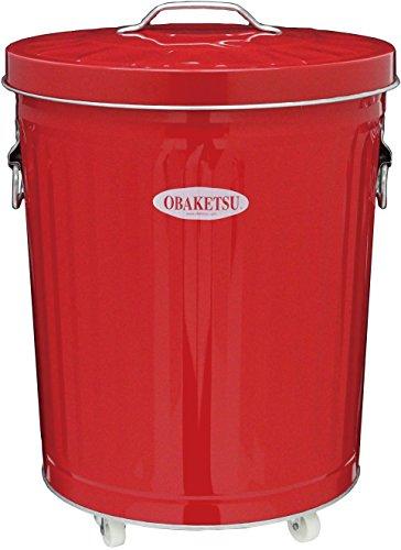 カラーオバケツCRK35赤キャスター付