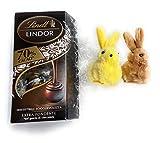 Lindt Lindor Idea Regalo - Lindt Cornet Lindor 70% Cacao 200g + 2 Mini Coniglietti Colori Assortiti