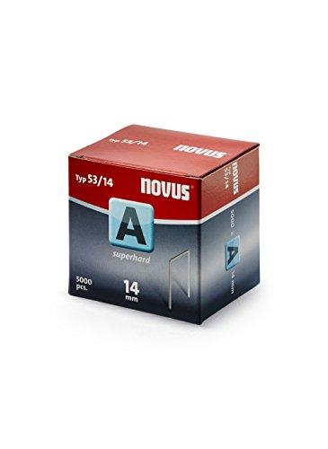 """Novus 042-0520 A 53 - Grapa de alambre fino""""ultraduro"""" con 14 mm longitud, 5000 Grapas del Tipo 53/14 ultraduro, un alambre de altísima solidez y estabilidad de la grapa"""