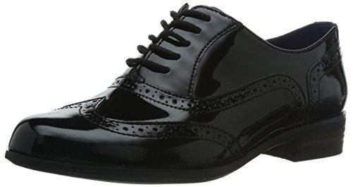 Clarks Hamble Oak, Zapatos Cordones Derby Mujer, Negro