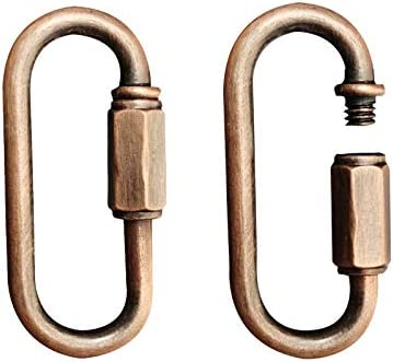 Red Bronze CUFEAL 10 Pack Heavy Duty D Shape Chain Locking M4 4MM Chain Quick Link Connector
