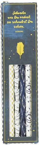 Bleistift-Set mit Sprüchen - BücherLiebe