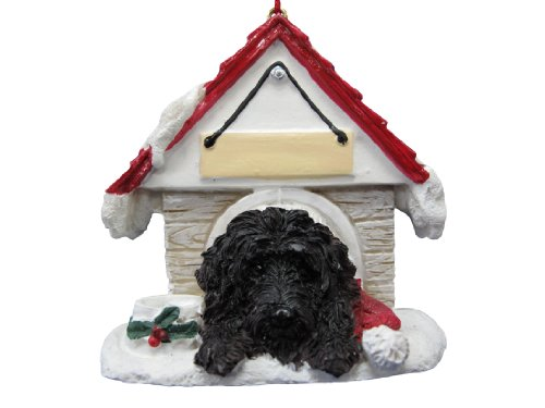 E&S Pets Black Labrdoodle Easily Personalized Ornament