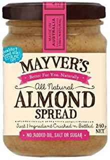 Mayver's Natural Almond Spread 240 g