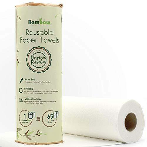 Paños reutilizables | Rollo de cocina ecológico | Multiusos | Resistente y absorbente | Bayetas ecológicas | Secado rápido y antibacteriano | Bambaw