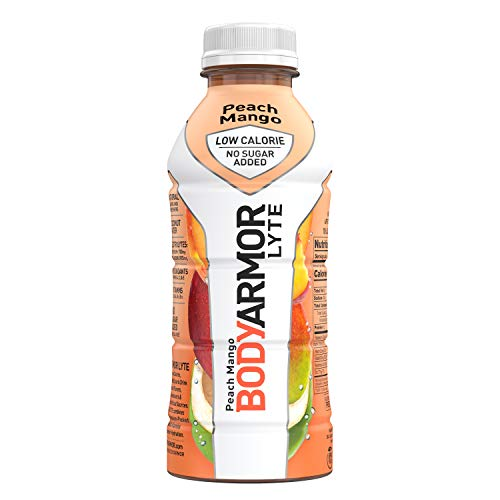 BODYARMOR LYTE Sports Drink LowCalorie Sports Beverage Peach Mango Natural Flavors With Vitamins PotassiumPacked Electrolytes No Preservatives Perfect For Athletes 16 Fl Oz Pack of 12