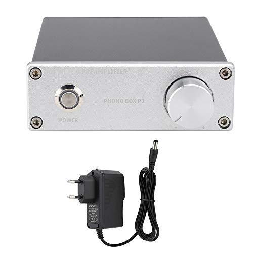 Förstärkare med nätadapter, NJM2068M Guldpläterad för RCA-ingångsutgångsspelarförstärkare, Endast för MM-spelarhuvuden(EU-kontakt)