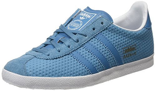 adidas Damen Gazelle OG Sneakers, Blau (Blanch Sea/Blanch Sea/Clear Grey), 36 EU