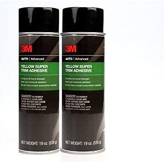 3M 08090 Super Yellow Trim Adhesive, 19oz 2 Pack (2)