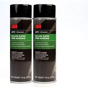 3M 08090 Super Yellow Trim Adhesive 19oz 2 Pack  2