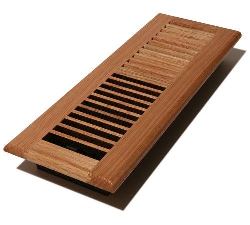 Decor Grates WL414-N Floor Register, 4-Inch by 14-Inch, Natural Oak