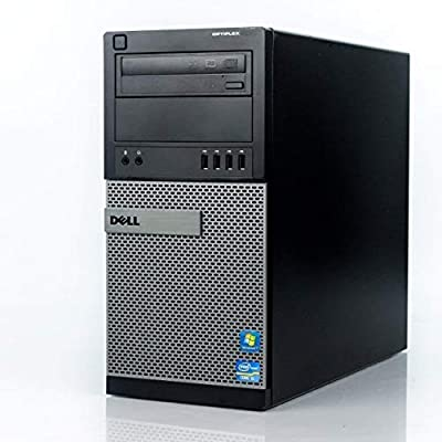 Dell Flagship Optiplex 9020 Tower Premium Business Desktop Computer (Intel Quad-Core i7-4770 up to 3.9GHz, 8GB RAM, 128GB SSD + 3TB HDD, DVD, WiFi, Windows 10 Professional) (Renewed)