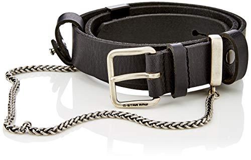 G-STAR RAW Damen Sash Chain Belt Gürtel, Schwarz (Dk Black/Antic Silver 9285), 6631 (Herstellergröße: 85)