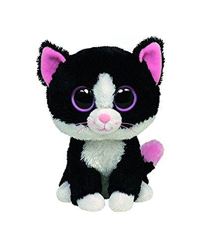 Ty 7136038 - Peppers-Katze Beanie Boos, schwarz/weiss, 15 cm, sortiert