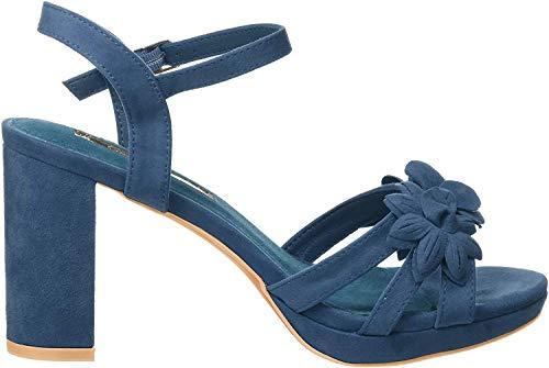 XTI 35044, Zapatos con Tira de Tobillo para Mujer, Azul Navy, 36 EU