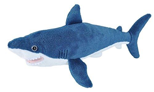 Wild Republic-21478 Peluche Tiburón Marrajo Cuddlekins, Color Azul, 20 cm (21478)