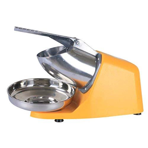 Eisschermaschine Smoothies Ice Crusher 380 W 2200 U/min Elektrischer Schneekegel Maker Edelstahl Rasierer Eismaschine für Zuhause und gewerbliche Nutzung gelb