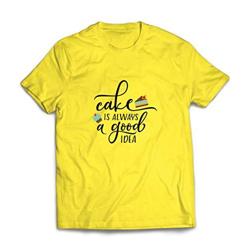 lepni.me Camisetas Hombre El Pastel es Siempre una Buena Idea El Amor cocinar Cocinar Hornear Comer (XX-Large Amarillo Multicolor)