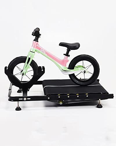 YBN Kinder Indoor Fahrradtrainer Ständer Einstellbare Roller Fahrrad Trainingsplattform Roller Laufband Für 12/14 Zoll Fahrrad,Schwarz