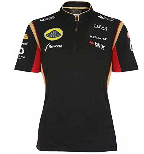Lotus F1 Team Sponsor Burn - Polo da donna con zip frontale, Donna, Nero , L