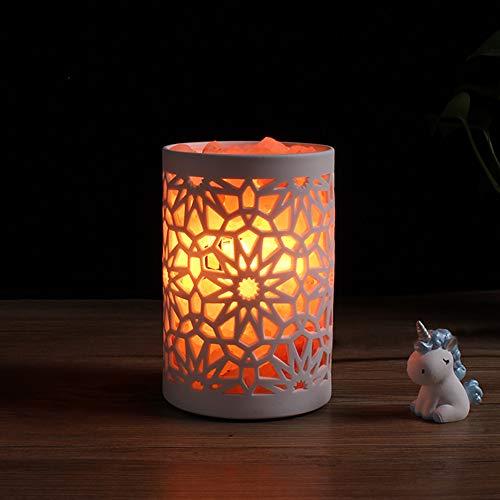 DEPNEE Keramisch Zout Licht Therapeutische 100% Pure Himalaya Roze Kristal Zout Lamp Fijne Kwaliteit
