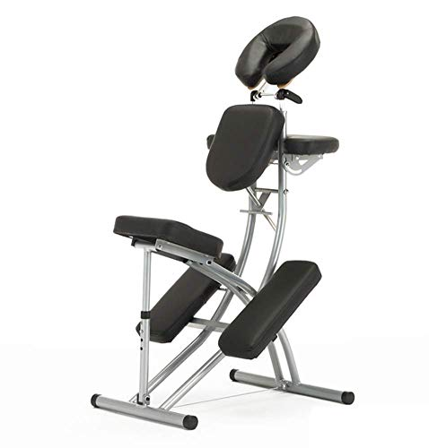 Portable Chaise De Massage - Compact Solide Et Léger Matériau En Alliage D'aluminium Confortable Fauteuil De Tatouage Pour Salon De Beauté Réglable + Sac Fourre-Tout,Noir