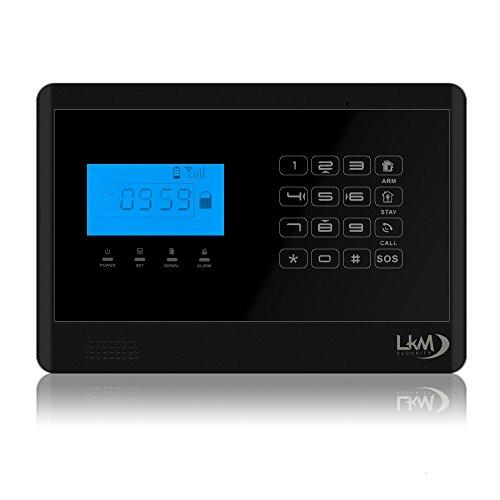 LKM Security - Kit M2E LITE y gsm Alarm M2e wireless gsm sms teclado táctil hogar sistema de alarma de infrarrojos motion sensor sensores de alta calidad sin antena