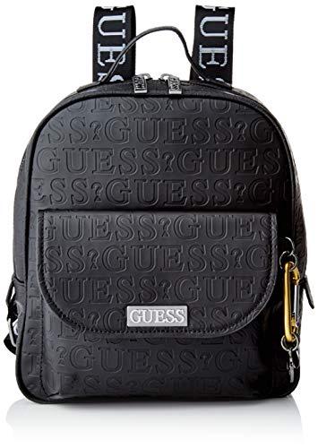 Guess Damen LANE LARGE BACKPACK Packpack, schwarz, Einheitsgröße