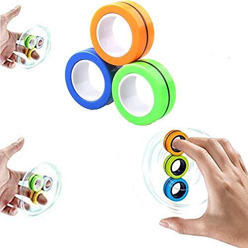 MEISHANG Buntes Fingerspielzeug,Magnetische Finger Ring,Magische Ring-Requisiten,Magnetic Rings Toys,Spielzeug Fingerring,Spielzeug Magie Ring,Magnetischer Ring Spielzeug