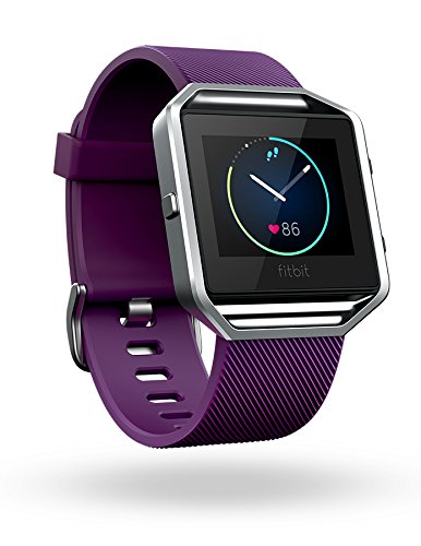 Fitbit Blaze Smart Fitness Watch, Plum, Silver, Large (6.7 - 8.1 inch) (US Version)