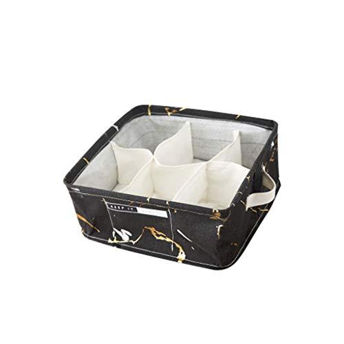 Caja de almacenamiento de ropa,Caja de almacenamiento,6 cajas cuadradas impermeables de algodón y ropa interior de lino calcetines caja de almacenamiento almacenamiento de vida en el hogar (1 pieza)